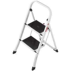Hailo K20 BasicLine Stahl-Trittleiter, 2 Stufen, Sicherheitsbügel, Klappsicherung, einfach zu verstauen, belastbar bis…