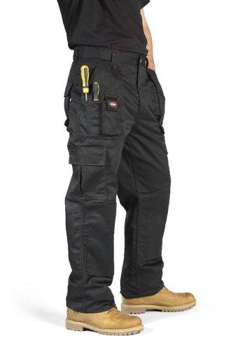 Lee Cooper Men's Cargo Trouser - schwarz -34W/29L (Groß Groß Arbeiten Und Mens Kleidung)