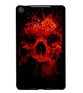 PrintDhaba Scary Skeleton D-4341 Back Case Cover for ASUS GOOGLE NEXUS 7 2013 (Multi-Coloured)
