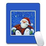 Aienid Gaming Mauspad Weihnachtsmuster Mehrfarbig Mauspad Size:240X200X3MM