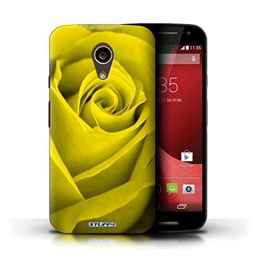 Kobalt® Imprimé Etui / Coque pour Motorola Moto G (2014) / Jaune conception / Série Rose Jaune