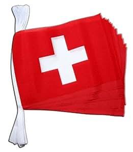 Guirlande drapeau Suisse - 5,9 m