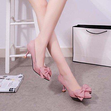 Talons féminins Printemps Eté Automne Hiver Confort Légère Soles PU Casual Stiletto Heel Bowknot Noir Rose Black