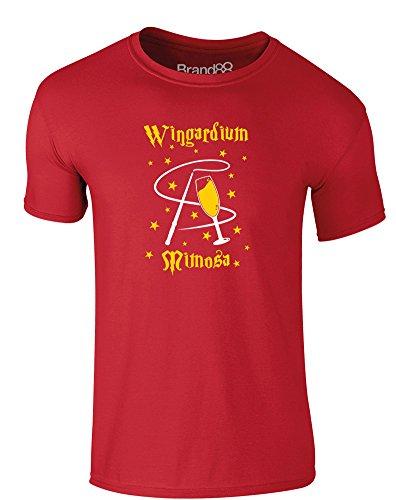 Brand88 - Wingardium Mimosa, Erwachsene Gedrucktes T-Shirt Rote