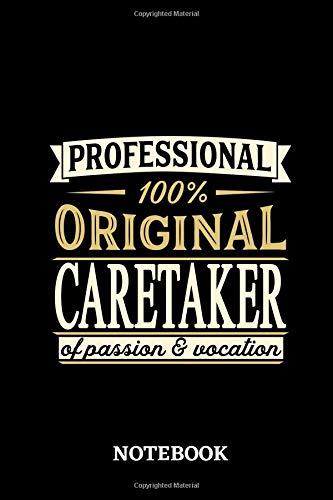 Professional Original Caretaker Notebook of Passion and Vocation -