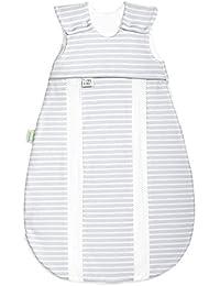 Odenwälder Jersey-Schlafsack prima klima strip&strip silber