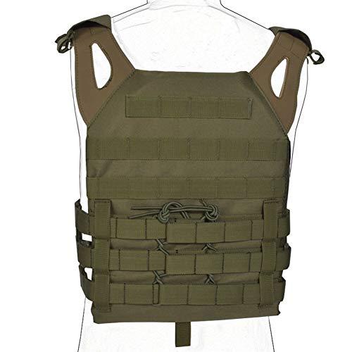 YANODA Jagd Weste Tactical Vest Körperschutz Plattenträger Molle Military Army Weste Munitionsmagazin Brust Rig Airsoft Paintball Gear Loading Jacke (Color : Green)