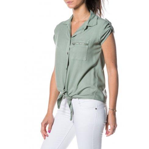 Princesse boutique - Chemisier VERT noué Vert