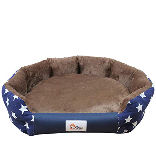 Camerlon Stilvolles Warmes Hundebett 3 Größen Weiche wasserdichte Matten für Kleine Mittlere Hund Herbst Winter Haustierbetten Hundehaus Katzenbett Cama Perro ,blau,L (Nahtlose Cami Mädchen)