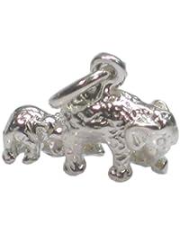 911f15c5d733 De elefante y calcetines altos Bebé Pulsera de plata de ley 925. 1 x  colgantes