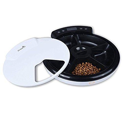 Automatisierte Futterspender, Lebensmittel-Dispenser für Hunde und Katzen – Alarme der Funktionellen Verteilung, Teil Kontrolle & Stimme Aufnahme – Zeitmesser Programmierbar Bis zu 5 Mahlzeiten pro Tag - 4