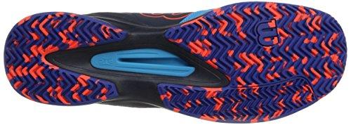 Wilson Herren Kaos Comp Tennisschuhe Blau (Hawaiian Ocean/Navy Blazer/Fiery Co)