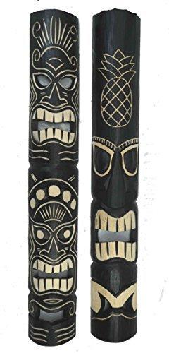 2-Tiki-Mscara-pared-look-aus-madera-con-Tiki-Hawaii-Estilo-in-100cm-Largo-Mscara-de-pared