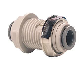 John Guest Bulkhead Connector 3/8 inch Tube OD (one supplied)