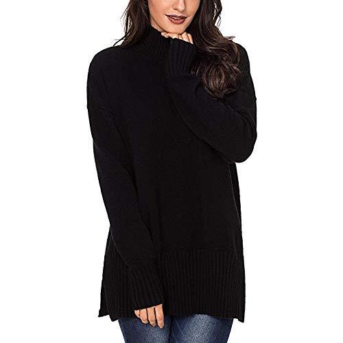 irt Locker übergroße Lässige Rollkragenpullover Pullover Tops Shirt Blau Schwarz Grau ()