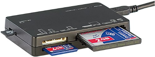 Xystec Multi Card Reader: Externer 6in1 Mini-Card-Reader & -Writer, USB 2.0 (Speicherkartenleser) (Externer Usb Multi Card Reader)