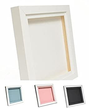 White 3d Deep Box Picture Frame Display Memory Box For Medals Memorabilia Flowers (10x8, Black) 5