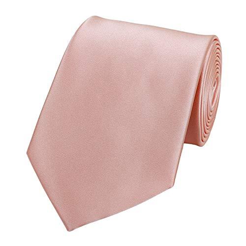 Fabio Farini - einfarbige und elegante Krawatte in verschiedenen Farben und Breiten zur Auswahl Lachsrosa 6cm