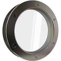 Tür Bullauge TBKS Schwarz 350 VSG Klarglas beidseitig verschraubt Türfenster