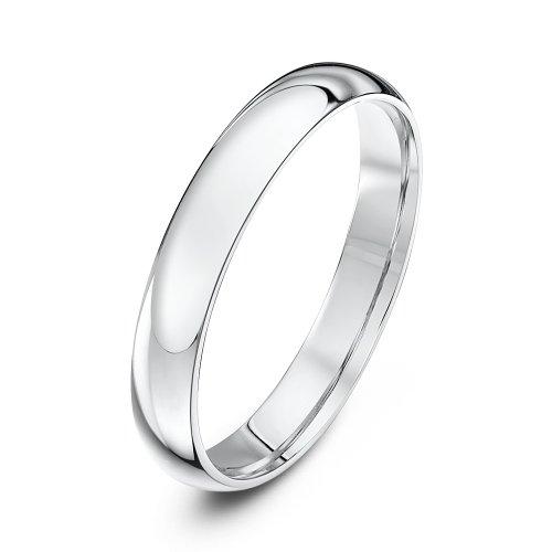 Theia anello unisex in oro 9k (375), fede nuziale lucida, fede comoda, misura 21