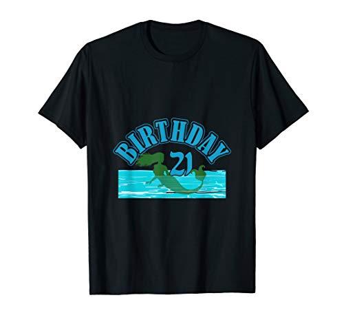 21st Birthday Girl Mermaid Birthday 21 Years Old Costume T-Shirt