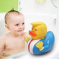 JinNiFu 2019 New New Donald Trump Duck Rubber PVC Duck Bath Squeaky Baby Kids Animals Floats Toys