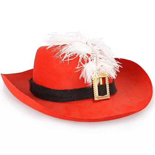 Cowboy-Hut Weihnachten Damen mit Feder (Cowboy Federn Und Hut)