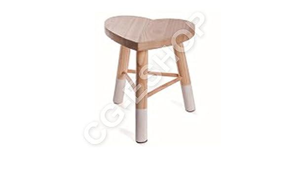 Confezioni giuliana pouf sgabello darredo rustico tirolese in legno