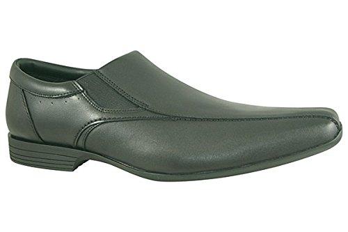 Clarks Forbes Schritt Mens Slip-on Schuhe 9.5 UK/ 44 EU Schwarz