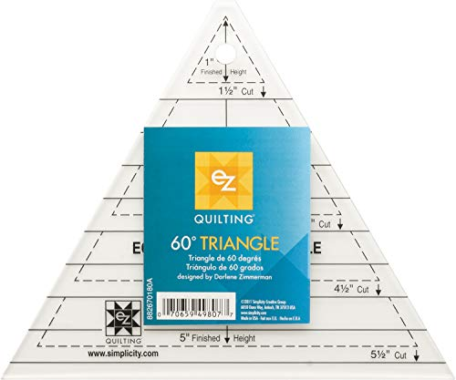 EZ Quilting 60° Dreieck, Schablone aus Acryl -