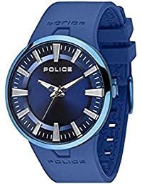POLICE DAKAR P14197JSBU-03 - Reloj para mujeres, correa de goma color azul