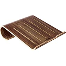 Urcover Samdi Edition Echt Holz Notebookst/änder und Tablet Halter Designer Laptopst/änder kompatibel mit Lenovo Asus Samsung MacBook iPad St/änder Tabletst/änder Hell Braun