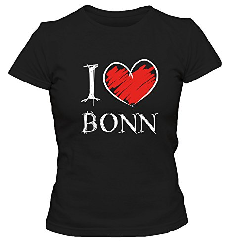 I love Bochum FUN Damen T-Shirt, Größe:XL;Farbe:schwarz