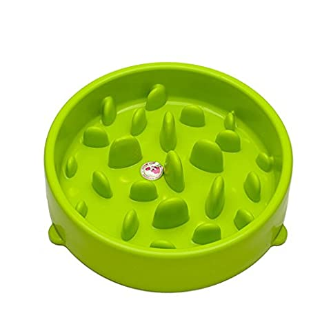Gamelle Anti Glouton, Top_Elec Chien Interactive Bol d'alimentation Lente Vert