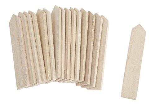 VBS Holz Zaunlatten Mini 16 Stück 10,5x1,9cm Deko Mini Gardening