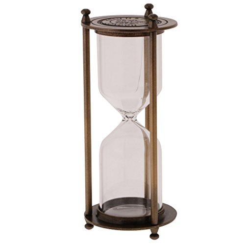 70d688b6c711 Gazechimp Reloj de Arena Sandglass Retro Metal Frame Empty Temporizador de  Arena.