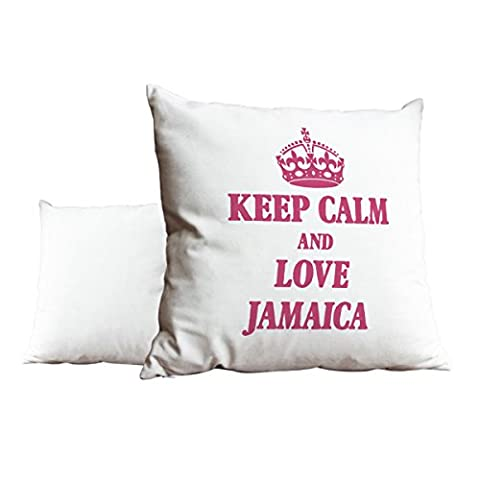 Rose keep calm and love Jamaica Blanc Scatter Taie d'oreiller 1971