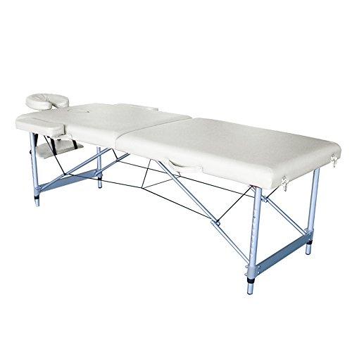 Sailun lettini per massaggi, 2 zone lettino da massaggio, spessore cuscino da 10 cm, telaio in alluminio, 186 * 70 cm (beige)