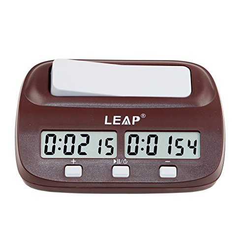 CaLeQi Digitale Multifunktions -Display Schachuhr Count Up Down Timer elektronische Brettspiel -Wettbewerb Clock(Mit Branded Gift Box)