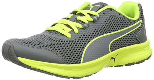 PumaDescendant V4 Wn's - Scarpe Running Donna Grigio (Quiet Shade-safety Yellow 09)