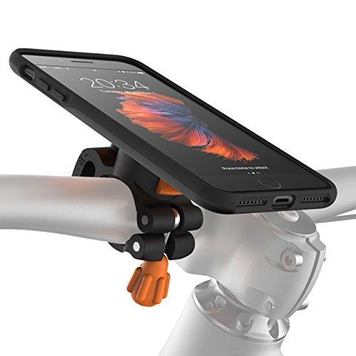 MORPHEUS LABS M4s BikeKit - Fahrradhalterung iPhone 7 Plus / iPhone 8 Plus - Handyhalterung Fahrrad & iPhone 7 Plus / iPhone 8 Plus Hülle, schwarz (auch für iPhone 6 PLUS eingeschränkt nutzbar*)