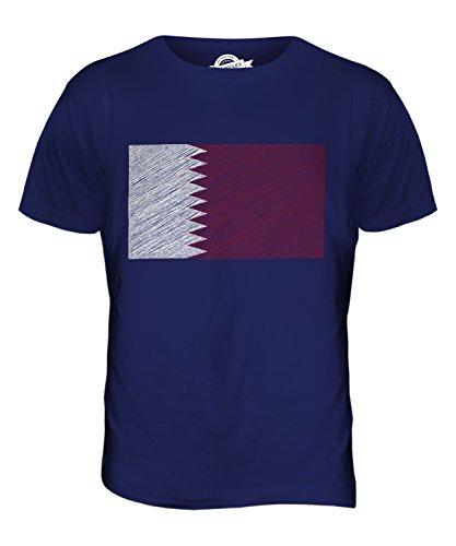 CandyMix Katar Kritzelte Flagge Herren T Shirt Navy Blau