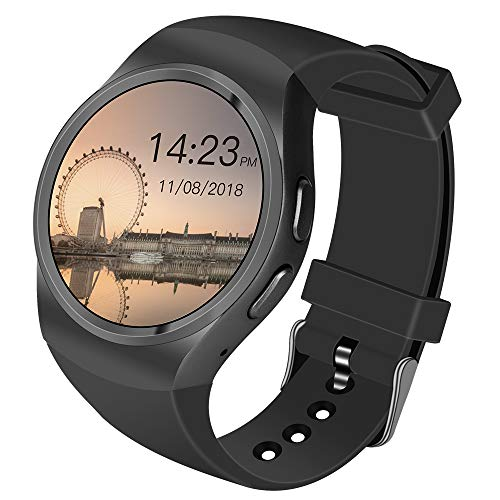 Smartwatch Android Uhr Phone Watch Support SIM Watch Phone for Android Samsung Galaxy S3/S4/S5/Note2/Note3/Note4 HTC Sony LG Xiaomi Huawei ZUK and iPhone schwarz (schwarz)