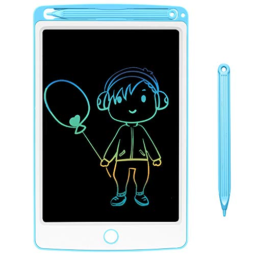 NOBES Tableta de Escritura LCD 8.5 Inch Colorida, LCD Tablero de Dibujo Gráfica Pizarra Magica de Mensaje Memo Pad Electrónico con Lápiz Regalos para Niños,Clase,Oficina,Casa,Cocina (Blue)