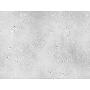 PrintYourHome Fliesenaufkleber für Küche und Bad | Dekor Beton Hellgrau Glatt | Fliesenfolie für 15x20cm Fliesen | 42 Stück | Klebefliesen günstig in 1A Qualität
