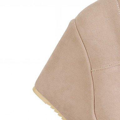 Botas De Tobillo Para Mujer Heart & M Botas Innovadoras Cómodas Botas De Lunares Casuales De Imitación De Cuero De Otoño Invierno Negro Beige Marrón 10 - 12 Cm Negro