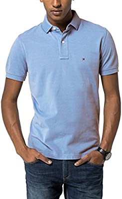 Tommy Hilfiger Knit S/S Rf, Polo para Hombre