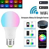 YAGAIU Smart LED Bulb E27 WiFi 4.5W Ecological Light Bulb RGBW Mood Lights Bluetooth Compatible with Amazon Alexa Remote Control by Smartphon LED Bulbs