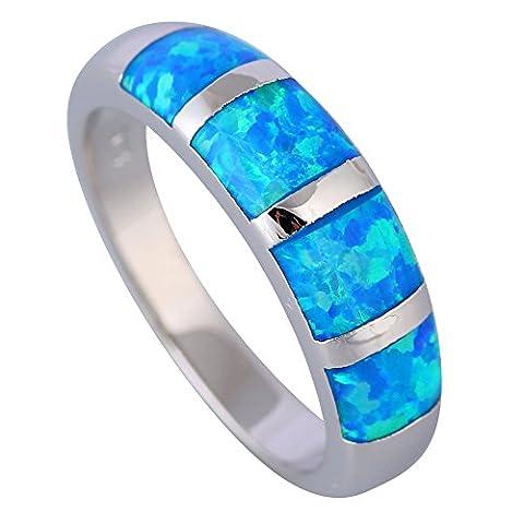 Fashion Opal rings Fina Jewelry Women's rings Blue Fire Opal