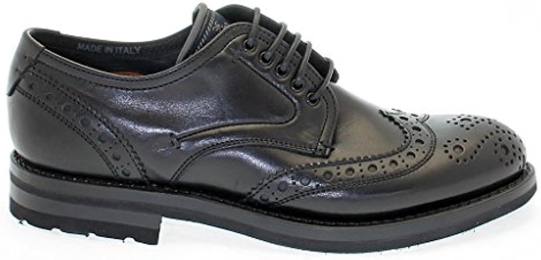 Fabi Herren 5861BLACK Schwarz Leder Schnürschuhe